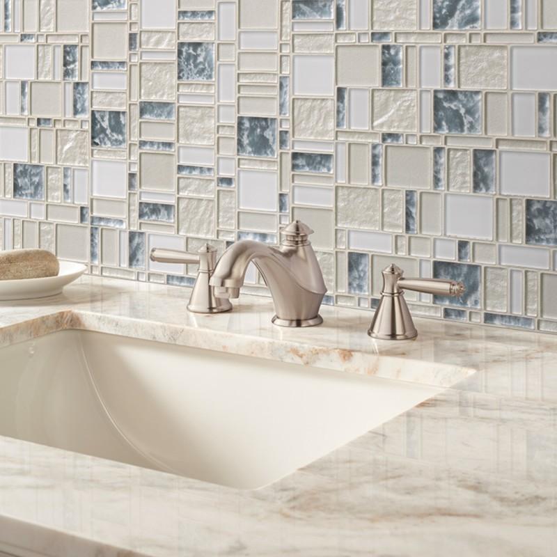 chantilly stax wall tile light blue mosaic