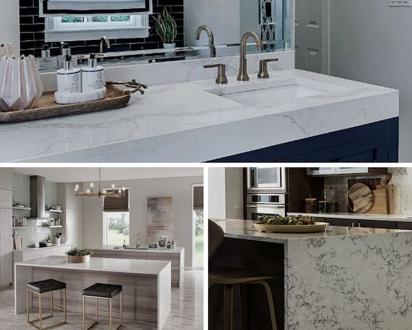 how to choose the right white quartz countertop for your kitchen or bath