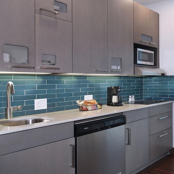 blue celeste modern tile for kitchen backsplash