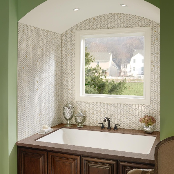 inspiration for relaxing hotel tub surrounds