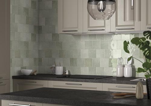 jade tile kitchen backsplash