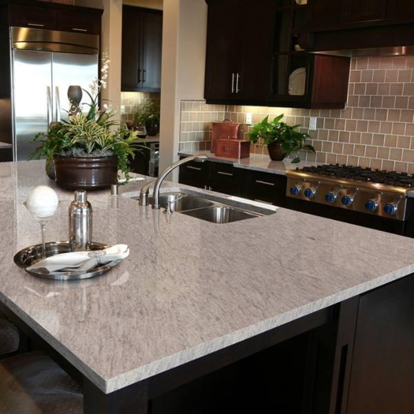 cherry wood kitchen with granite counter