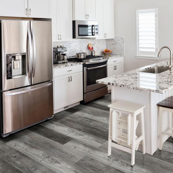 vinyl plank flooring in kitchen