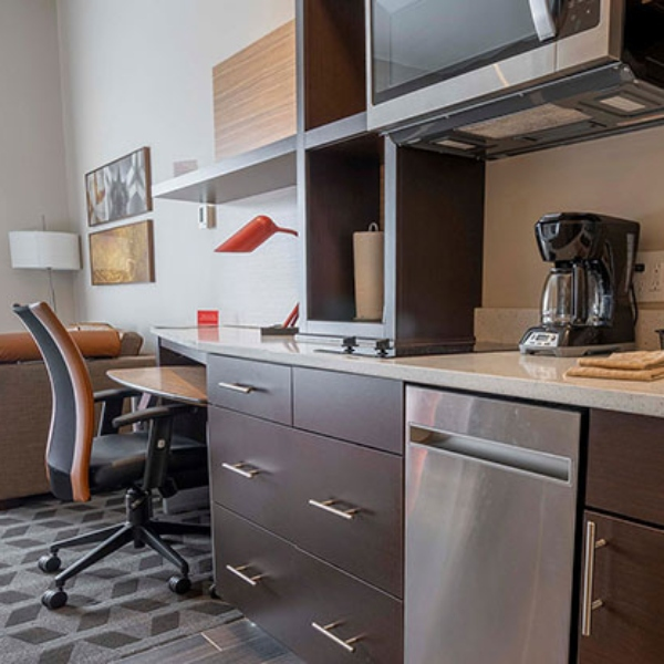 why quartz is a popular choice for reception areas and hotel vanity countertops