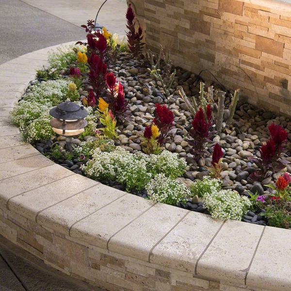 drought proof pebble gardening in planter