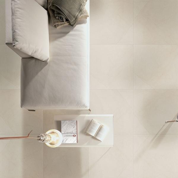 porcelain hotel lobby floor in soft white