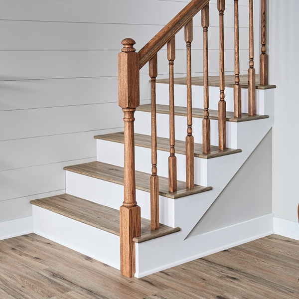 stair lvt flooring in traditional home