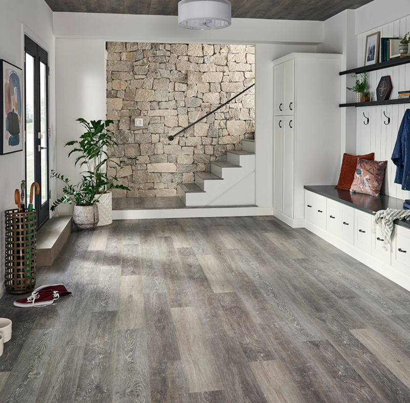 mudroom vinyl tile wood flooring