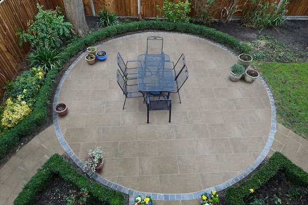 oversized porcelain pavers for DIY patio