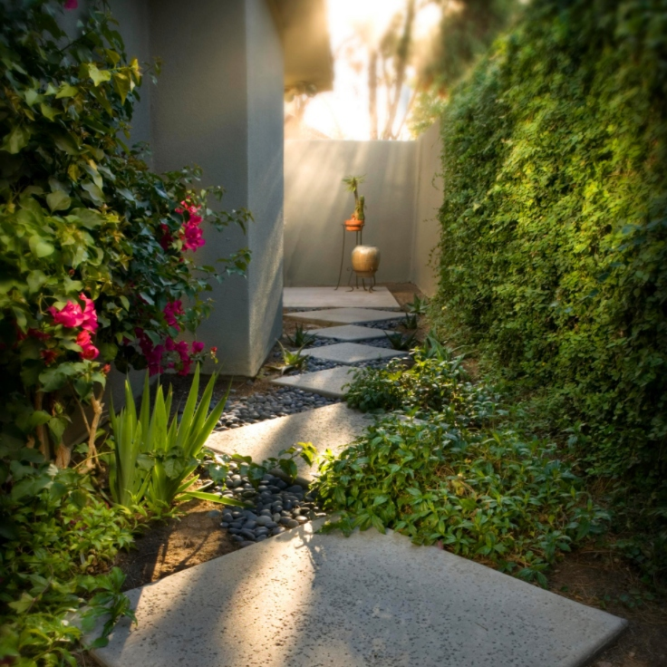 pathway with grey pebbles