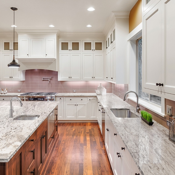 marble look granite counter for the kitchen