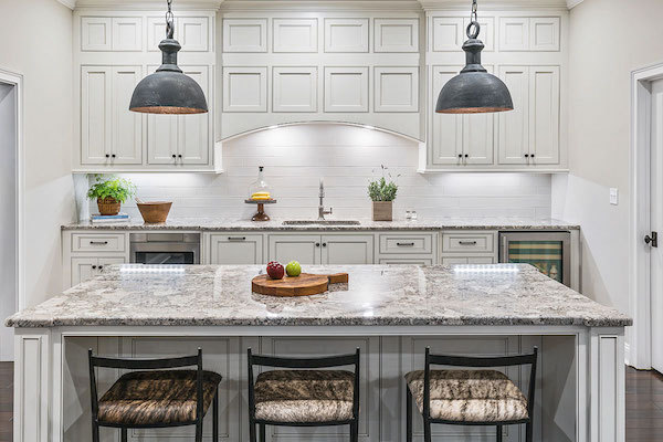 granite kitchen island for entertaining
