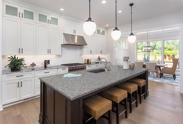 granite island kitchen counterop