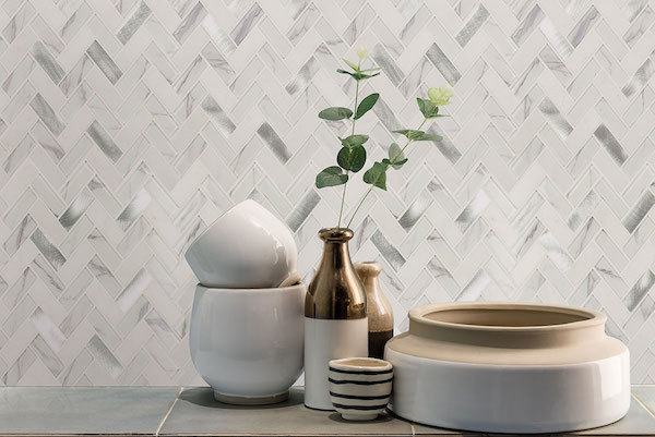 marble look wall tile feature wall