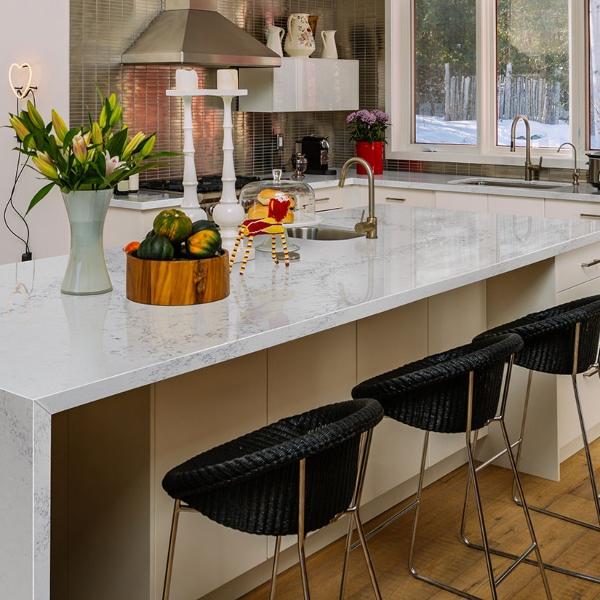 quartz modern elegant kitchen