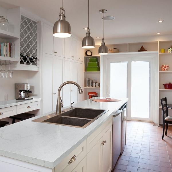 quartz modern soft white quart kitchen
