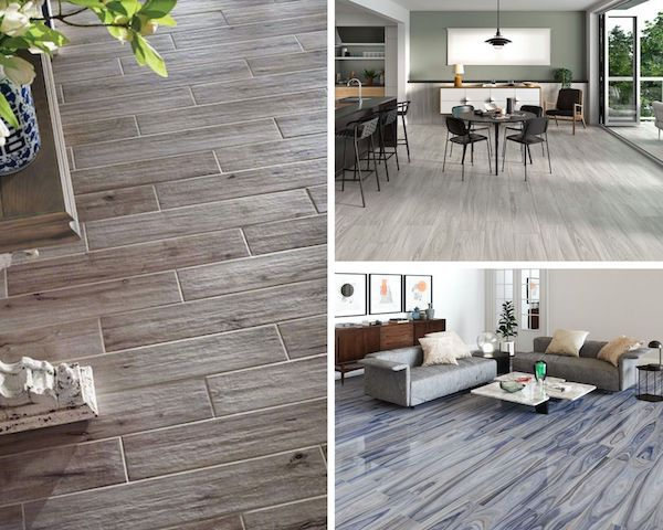 the different design styles of porcelain wood look tile