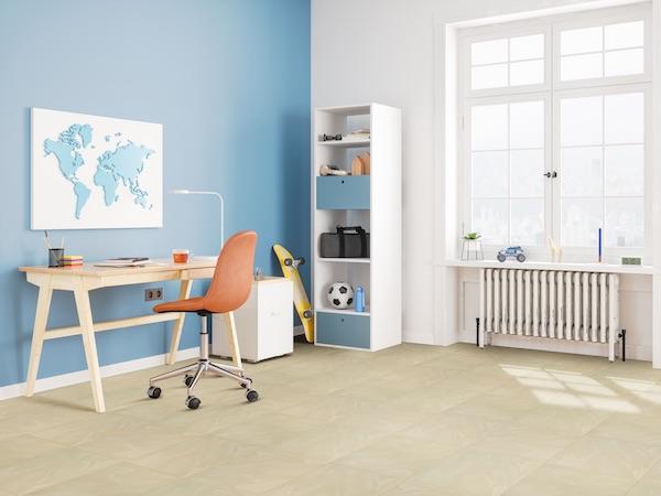 porcelain tile in childs room