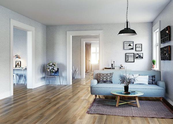 classic wood look with texture vinyl tile flooring