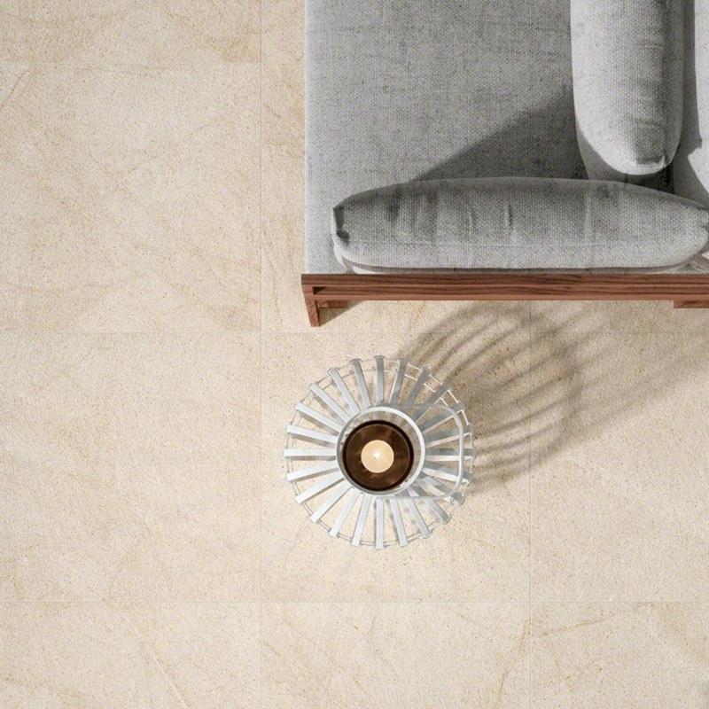 living style porcelain tile in hotel lobby