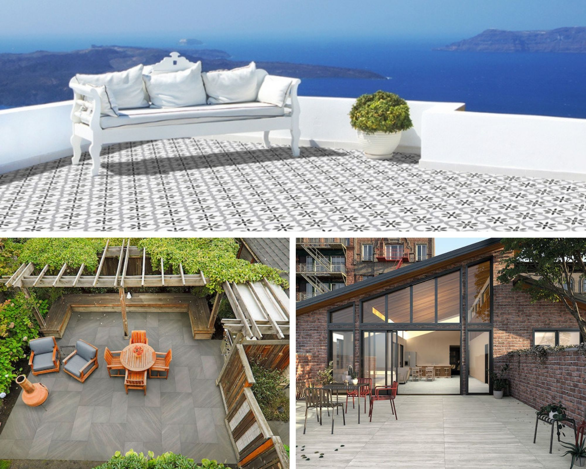 build the perfect patio with porcelain pavers