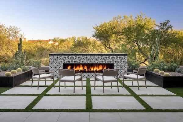 brina porcelain tile outdoor fireplace msi