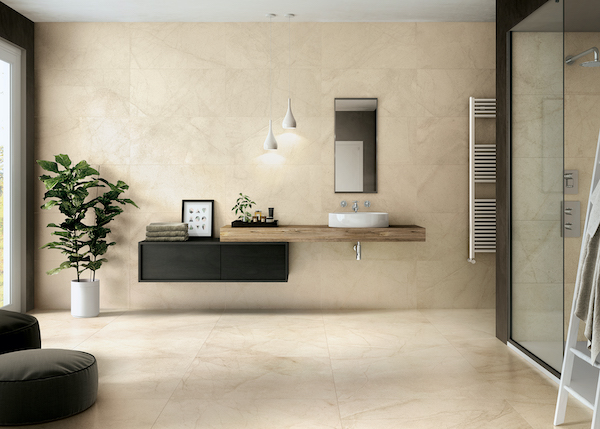 livingstyle cream porcelain tile flooring and wall