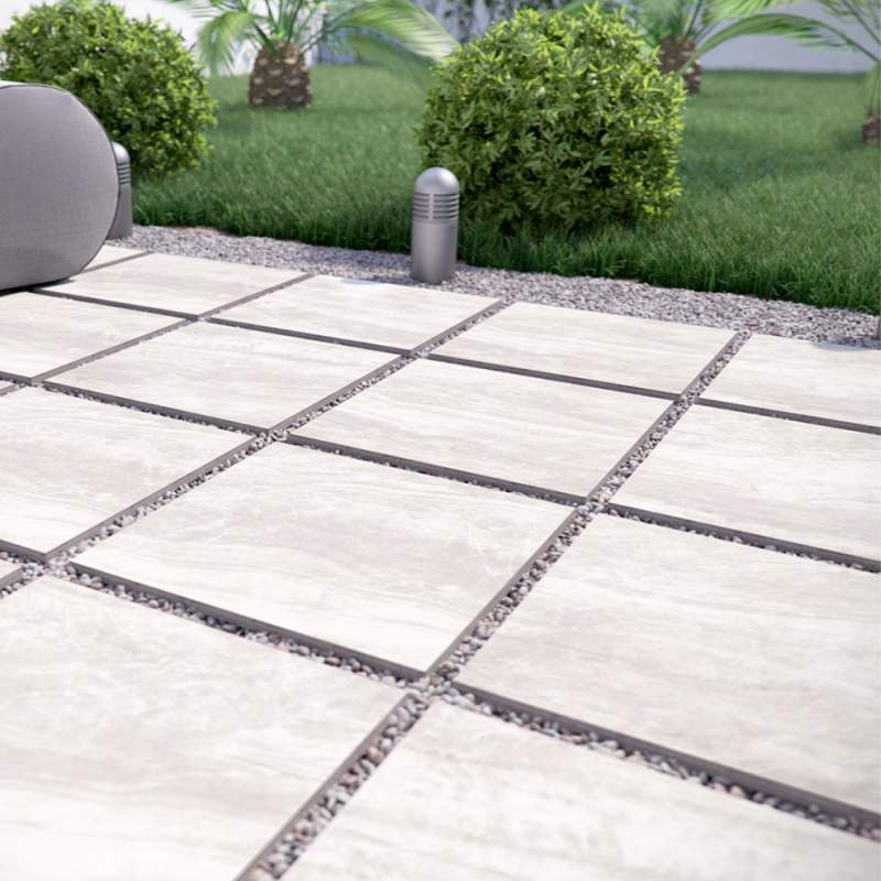 grewy porcelain pavers for the patio