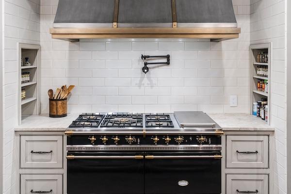 whisper white porcelain tile kitchen backsplash