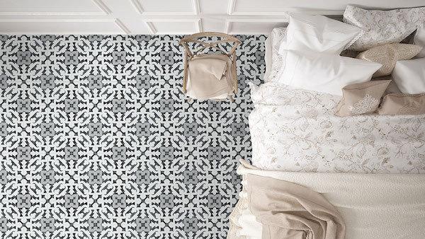 porcelain floral pattern time in bedroom