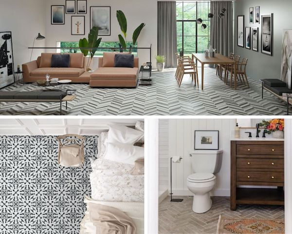 improve any room with these easy porcelain floor tile patterns