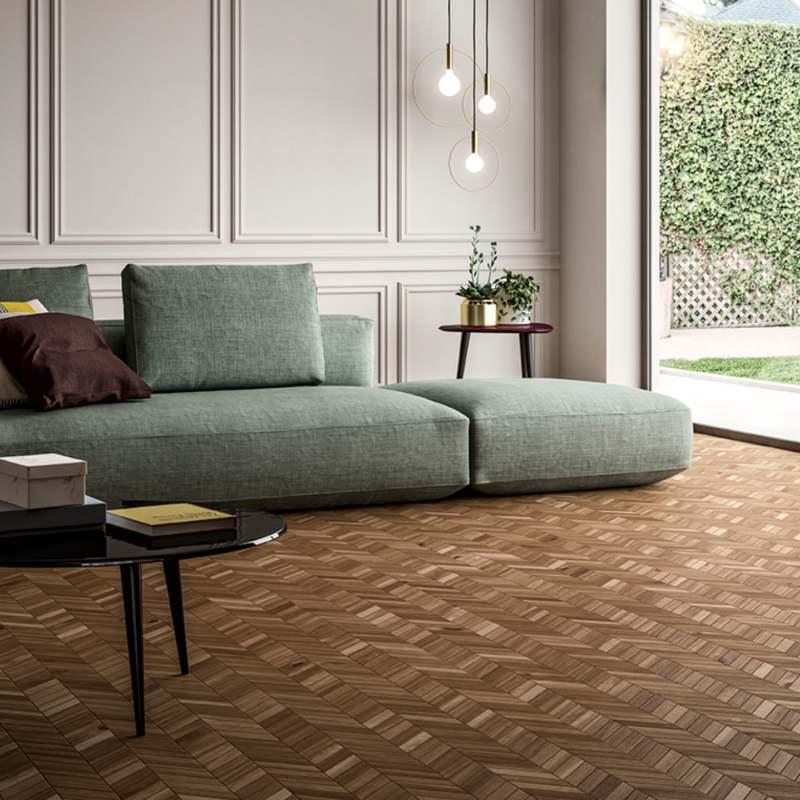 havenwood saddle chevron mosaic porcelain tile flooring