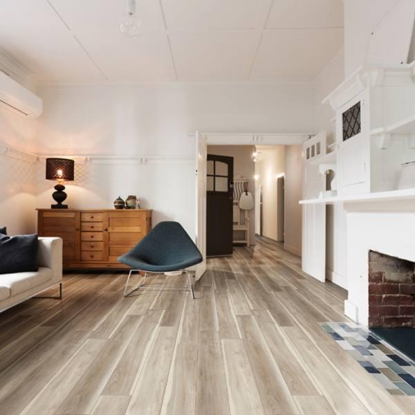 greige wood look lvt in vintage home