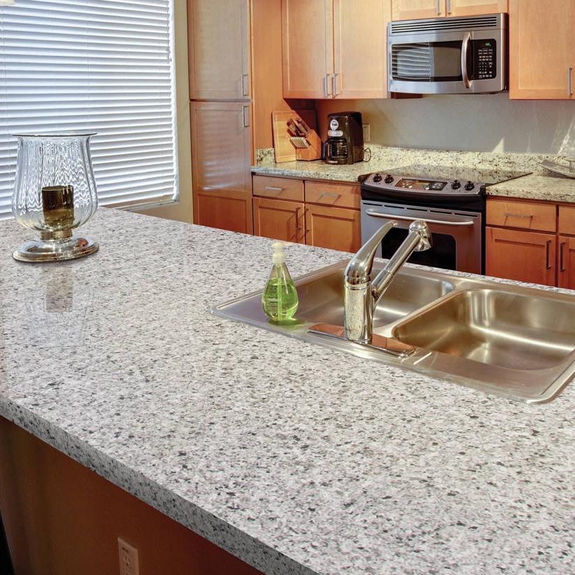 salt and pepper granite look quartz countertop