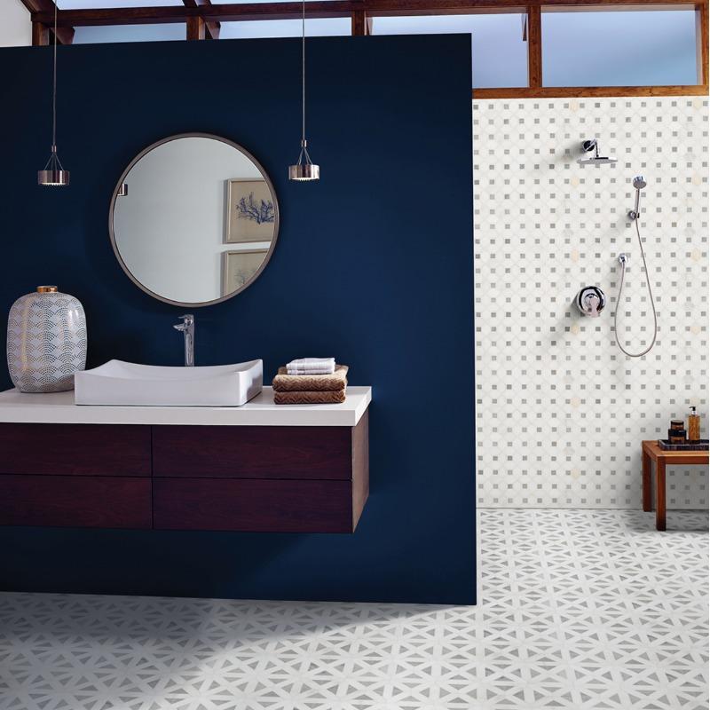 dotty marble mosaic tile