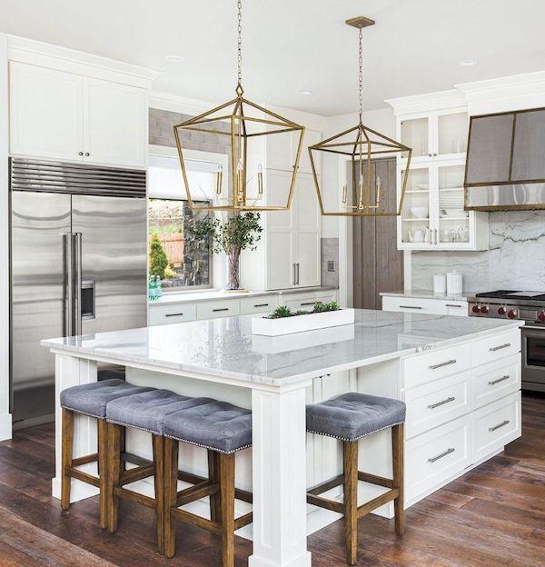 marble look kitchen island