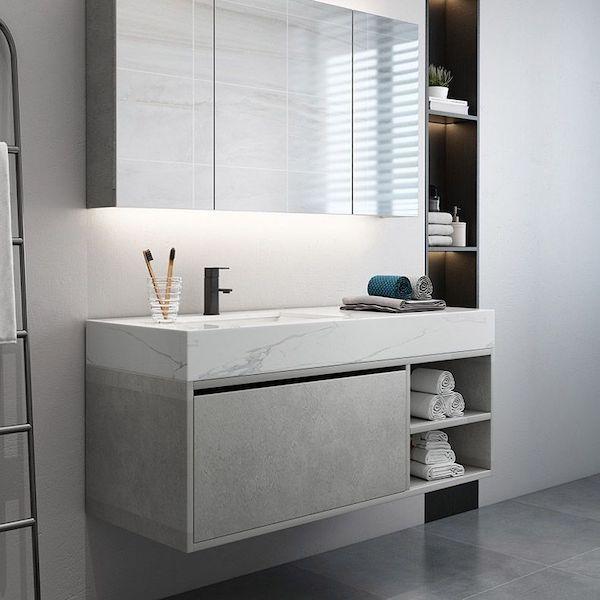 modern hotel vanity