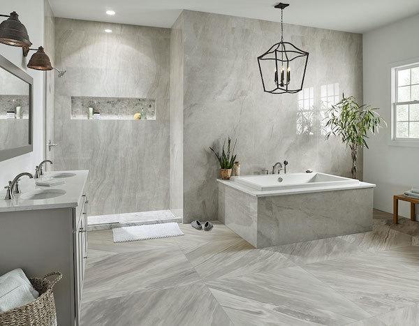 marble look large format porcelain tile