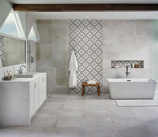 awaken your walls with marble geometric pattern backsplash tile