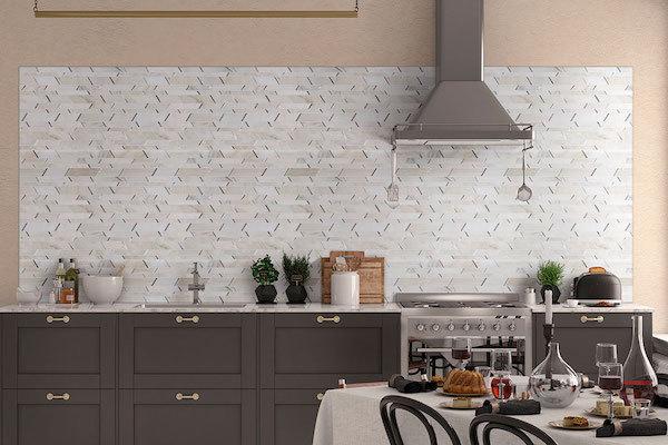 modern pattern marble backplash tile