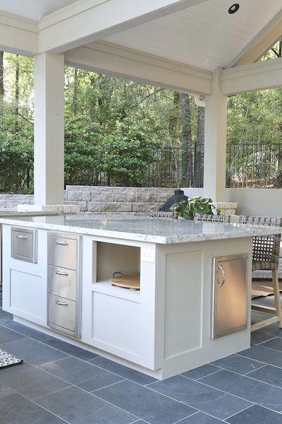 granite countertop on patio