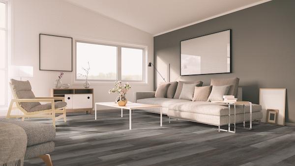 vinyl plank flooring in living room