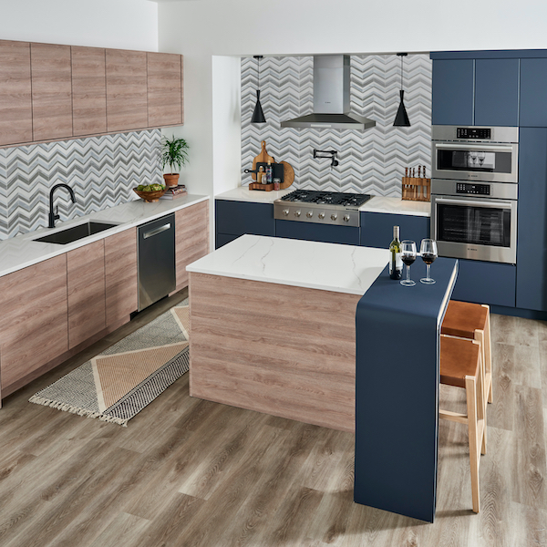 msi-urban-waves-handcrafted-glass-mosaic-kitchen-backsplash-in-grew-and-blue-with-modern-wood-cabinets-(1)