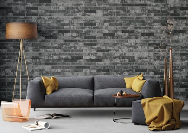 charcoal-brickstone-porcelain-tile-brick-wall-in-retro-modern-living-room