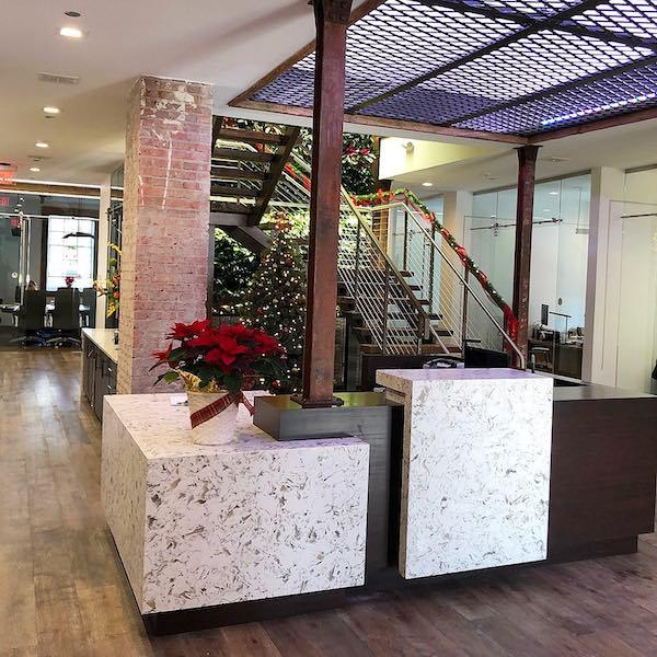 monclair-white-quartz-in-the-reception-area-for-hotel-application