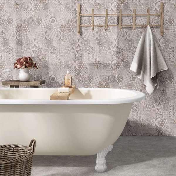 msi-mixana-porcelain-wall-tile-in-encaustic-with-clawfoot-tub