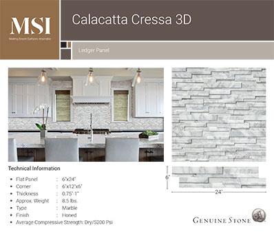 Calacatta Cressa 3D