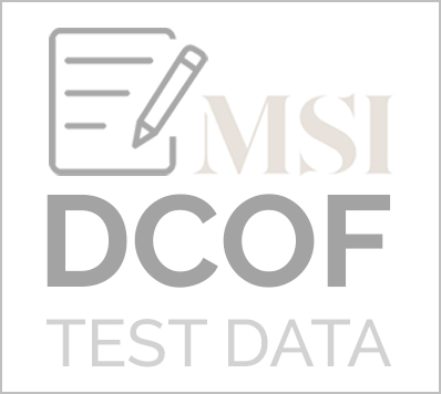 Veneto DCOF TEST DATA