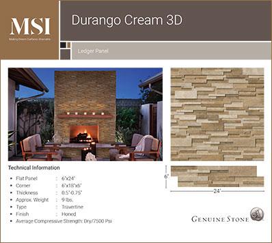 Durango Cream 3D