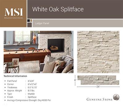 White Oak Splitface